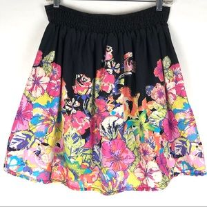 Maurices floral lined cotton skirt